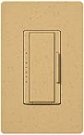 Lutron MSCF-6AM-GS Maestro Satin 120V / 6A Fluorescent 3-Wire / Hi-Lume LED Multi Location Dimmer in Goldstone