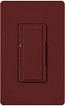 Lutron MSCF-6AM-MR Maestro Satin 120V / 6A Fluorescent 3-Wire / Hi-Lume LED Multi Location Dimmer in Merlot