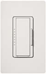 Lutron MSCF-6AM-SW Maestro Satin 120V / 6A Fluorescent 3-Wire / Hi-Lume LED Multi Location Dimmer in Snow