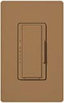 Lutron MSCF-6AM-TC Maestro Satin 120V / 6A Fluorescent 3-Wire / Hi-Lume LED Multi Location Dimmer in Terracotta