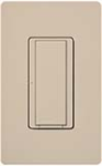 Lutron MSCF-S6AM-277-TP Maestro Satin 277V / 6A Digital Multi Location Switch in Taupe