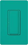 Lutron MSCF-S6AM-277-TQ Maestro Satin 277V / 6A Digital Multi Location Switch in Turquoise