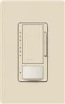 Lutron MSCL-OP153M-LA Maestro CL Occupancy Sensor (Auto-ON/OF or Manual ON/Auto-OFF) and Dimmer, 600W Incandescent, 150W CFL or LED Single Pole / Multi Location Dimmer in Light Almond
