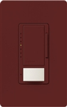 Lutron MSCL-OP153M-MR Maestro CL Occupancy Sensor (Auto-ON/OF or Manual ON/Auto-OFF) and Dimmer, 600W Incandescent, 150W CFL or LED Single Pole / Multi Location Dimmer in Merlot