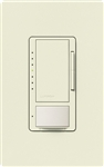 Lutron MSCL-OP153MH-BI Maestro CL Occupancy Sensor (Auto-ON/OF or Manual ON/Auto-OFF) and Dimmer, 600W Incandescent, 150W CFL or LED Single Pole / Multi Location Dimmer in Biscuit