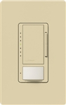 Lutron MSCL-OP153MH-IV Maestro CL Occupancy Sensor (Auto-ON/OF or Manual ON/Auto-OFF) and Dimmer, 600W Incandescent, 150W CFL or LED Single Pole / Multi Location Dimmer in Ivory