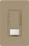 Lutron MSCL-OP153MH-MS Maestro CL Occupancy Sensor (Auto-ON/OF or Manual ON/Auto-OFF) and Dimmer, 600W Incandescent, 150W CFL or LED Single Pole / Multi Location Dimmer in Mocha Stone
