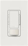 Lutron MSCL-OP153MH-SW Maestro CL Occupancy Sensor (Auto-ON/OF or Manual ON/Auto-OFF) and Dimmer, 600W Incandescent, 150W CFL or LED Single Pole / Multi Location Dimmer in Snow