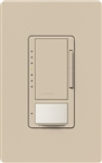 Lutron MSCL-OP153MH-TP Maestro CL Occupancy Sensor (Auto-ON/OF or Manual ON/Auto-OFF) and Dimmer, 600W Incandescent, 150W CFL or LED Single Pole / Multi Location Dimmer in Taupe