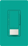 Lutron MSCL-OP153MH-TQ Maestro CL Occupancy Sensor (Auto-ON/OF or Manual ON/Auto-OFF) and Dimmer, 600W Incandescent, 150W CFL or LED Single Pole / Multi Location Dimmer in Turquoise