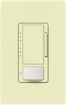 Lutron MSCL-VP153M-AL Maestro CL Vacancy Sensor (Manual ON/Auto-OFF) and Dimmer, 600W Incandescent, 150W CFL or LED Single Pole / Multi Location Dimmer in Almond