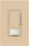 Lutron MSCL-VP153M-DS Maestro CL Vacancy Sensor (Manual ON/Auto-OFF) and Dimmer, 600W Incandescent, 150W CFL or LED Single Pole / Multi Location Dimmer in Desert Stone