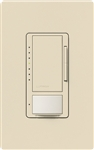 Lutron MSCL-VP153M-ES Maestro CL Vacancy Sensor (Manual ON/Auto-OFF) and Dimmer, 600W Incandescent, 150W CFL or LED Single Pole / Multi Location Dimmer in Eggshell