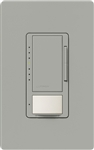 Lutron MSCL-VP153M-GR Maestro CL Vacancy Sensor (Manual ON/Auto-OFF) and Dimmer, 600W Incandescent, 150W CFL or LED Single Pole / Multi Location Dimmer in Gray