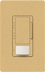 Lutron MSCL-VP153M-GS Maestro CL Vacancy Sensor (Manual ON/Auto-OFF) and Dimmer, 600W Incandescent, 150W CFL or LED Single Pole / Multi Location Dimmer in Goldstone