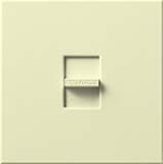 Lutron N-1500-AL Nova 1500W Incandescent / Halogen Single Location Slide-to-Off Dimmer in Almond