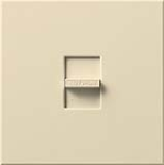 Lutron N-1500-BE Nova 1500W Incandescent / Halogen Single Location Slide-to-Off Dimmer in Beige
