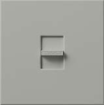 Lutron N-1500-GR Nova 1500W Incandescent / Halogen Single Location Slide-to-Off Dimmer in Gray