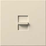 Lutron N-1500-LA Nova 1500W Incandescent / Halogen Single Location Slide-to-Off Dimmer in Light Almond
