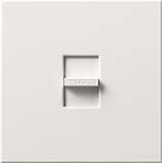 Lutron N-2000-WH Nova 2000W Incandescent / Halogen Single Location Slide-to-Off Dimmer in White