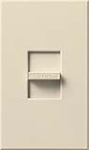 Lutron NF-10-LA Nova 120V / 16A Fluorescent 3-Wire / Hi-Lume LED Single Pole Slide-to-Off Dimmer in Light Almond