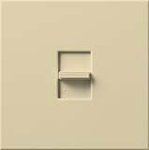 Lutron NF-103P-277-IV Nova 277V / 6A Fluorescent 3-Wire / Hi-Lume LED Single Pole / 3-Way Preset Dimmer in Ivory