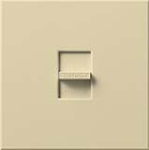 Lutron NF-20-277-IV Nova 277V / 20A Fluorescent Single Pole Slide-to-Off Dimmer in Ivory