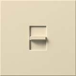 Lutron NLV-2003P-BE Nova 1600W Magnetic Low Voltage Single Pole / 3-Way Preset Dimmer in Beige