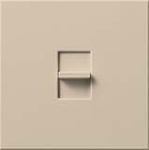 Lutron NT-1500-TP Nova T 1500W Incandescent / Halogen Single Location Slide-to-Off Dimmer in Taupe, Matte Finish