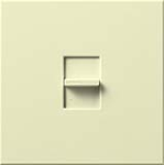 Lutron NT-2000-AL Nova T 1950W Incandescent / Halogen Single Location Slide-to-Off Dimmer in Almond, Matte Finish