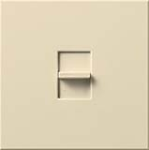 Lutron NT-2000-BE Nova T 1950W Incandescent / Halogen Single Location Slide-to-Off Dimmer in Beige, Matte Finish