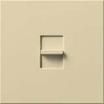 Lutron NT-2000-IV Nova T 1950W Incandescent / Halogen Single Location Slide-to-Off Dimmer in Ivory, Matte Finish