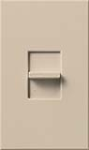 Lutron NT-600-TP Nova T 600W Incandescent / Halogen Single Location Slide-to-Off Dimmer in Taupe, Matte Finish