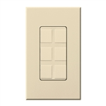 Lutron NT-6PF-BE Nova T Field-Customizable 6 Port Frame in Beige, Matte Finish