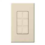 Lutron NT-6PF-LA Nova T Field-Customizable 6 Port Frame in Light Almond, Matte Finish