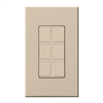 Lutron NT-6PF-TP Nova T Field-Customizable 6 Port Frame in Taupe, Matte Finish