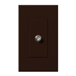 Lutron NT-CJ-BR Nova T Single Cable Jack in Brown, Matte Finish