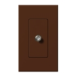 Lutron NT-CJ-SI Nova T Single Cable Jack in Sienna, Matte Finish
