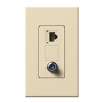 Lutron NT-PJ8CJ-BE Nova T, Phone/Cable Jack in Beige, Matte Finish
