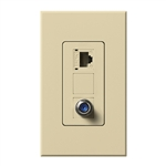 Lutron NT-PJ8CJ-IV Nova T, Phone/Cable Jack in Ivory, Matte Finish