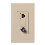 Lutron NT-PJ8CJ-TP Nova T, Phone/Cable Jack in Taupe, Matte Finish