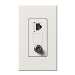 Lutron NT-PJ8CJ-WH Nova T, Phone/Cable Jack in White, Matte Finish