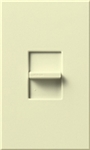 Lutron NTB-1000-AL Nova T 1000W Incandescent / Halogen Omnislide Two Location Slide-to-Off Dimmer in Almond, Matte Finish