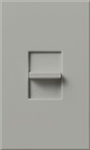 Lutron NTB-1000-GR Nova T 1000W Incandescent / Halogen Omnislide Two Location Slide-to-Off Dimmer in Gray, Matte Finish