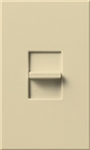 Lutron NTB-1000-IV Nova T 1000W Incandescent / Halogen Omnislide Two Location Slide-to-Off Dimmer in Ivory, Matte Finish