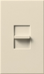 Lutron NTB-1000-LA Nova T 1000W Incandescent / Halogen Omnislide Two Location Slide-to-Off Dimmer in Light Almond, Matte Finish