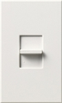 Lutron NTB-1000-WH Nova T 1000W Incandescent / Halogen Omnislide Two Location Slide-to-Off Dimmer in White, Matte Finish