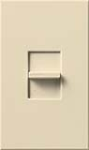 Lutron NTELV-300-BE Nova T 300W Electronic Low Voltage Single Pole Slide-to-Off Dimmer in Beige, Matte Finish