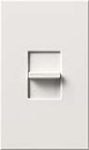 Lutron NTELV-300-WH Nova T 300W Electronic Low Voltage Single Pole Slide-to-Off Dimmer in White, Matte Finish