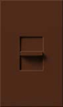 Lutron NTF-103P-SI Nova T 120V / 8A Fluorescent 3-Wire / Hi-Lume LED Single Pole / 3-Way Preset Dimmer in Sienna, Matte Finish